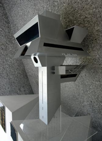 Model of 'Praxis', the Architect's Studio in Mexico City. Courtesy of Agustin Hernandez Navarro