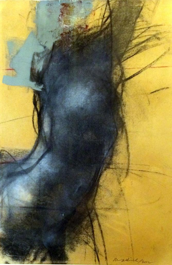 'Figure in Motion' Chalk and Charcoal, 24 x16 in. Courtesy of Mashiul Chowdhury