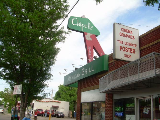 The first Chipotle restaurant