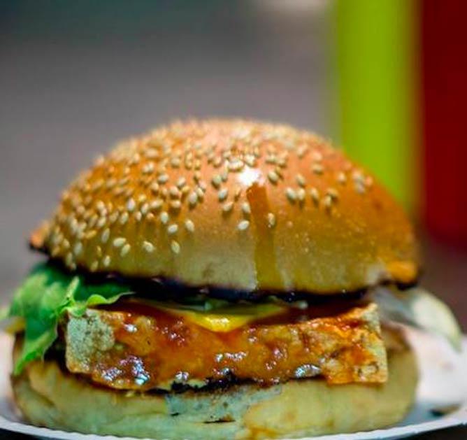 Bleecker St.'s Veggie Burger| Courtesy Liam/Flickr