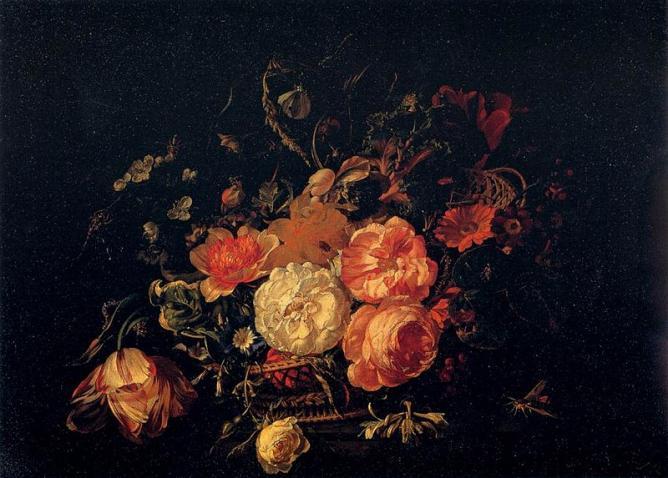 Rachel Ruysch, 'Basket of Flowers' | © JarektUploadBo/Wikicommons