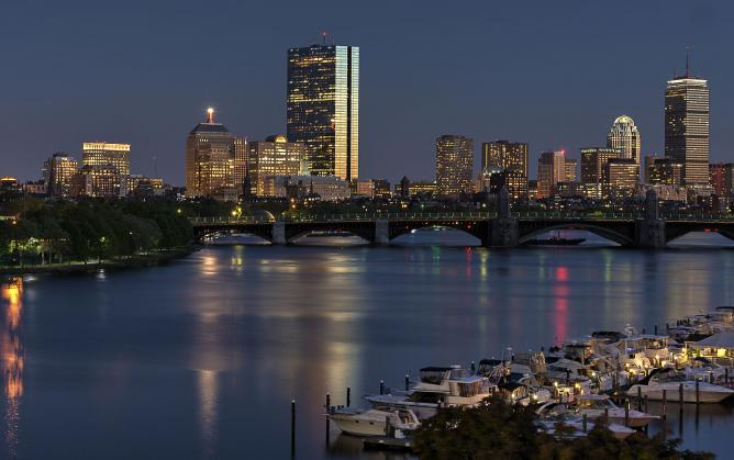 Boston Black Bay Skyline | © Bill Damon/WikiCommons