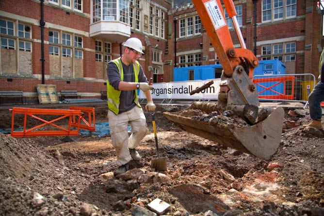 Site Director Mathew Morris Returns to the Grey Friars Site to Uncover the Church