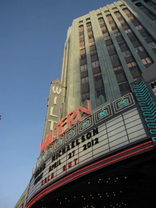 The front entrance to The Wiltern