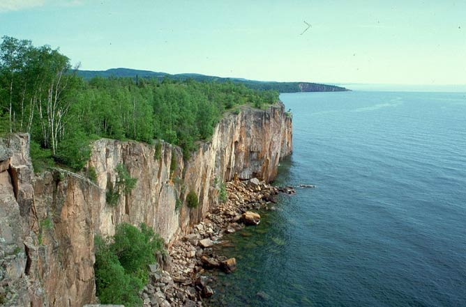 Cliffs at Palisade Head on Lake Superior in Minnesota near Silver Bay