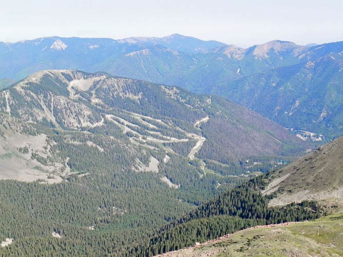 Taos Ski Valley from Wheeler Peak, New Mexico