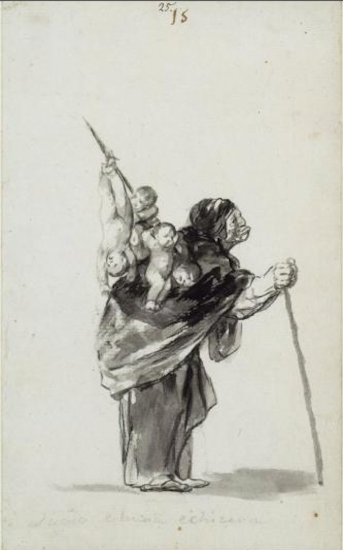 Francisco Goya, Dream of a good witch © The Courtauld Gallery