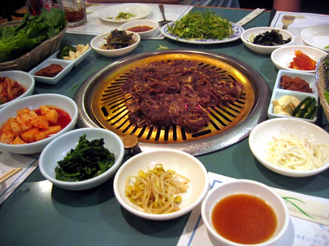 Bulgolgi on the Grill at a Korean Barbacue