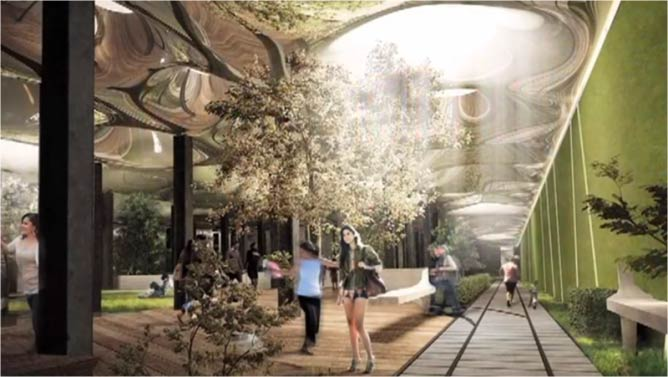 'A rendering of the proposed Lowline park design,' 2012   © TheLowline/WikiCommons