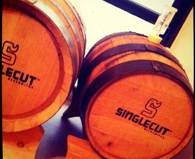 SingleCut Brewing Barrels | © Chris Scott/Flickr