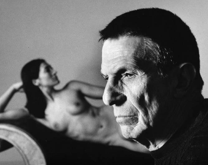 Leonard Nimoy Selft Portrait with Shekhina   Image courtesy of R.Michelson Galleries