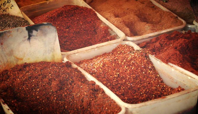 Range of Spices at the Shuk