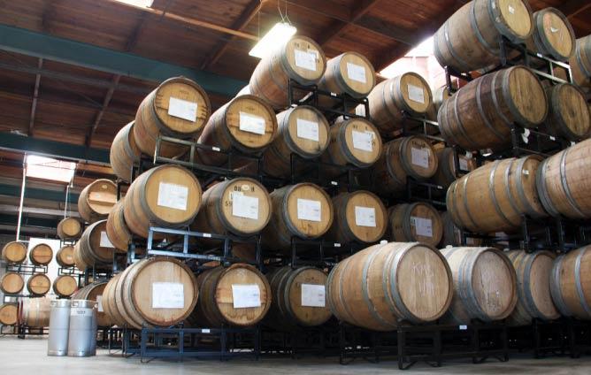 Barrel house at The Rare Barrel | Courtesy of The Rare Barrel