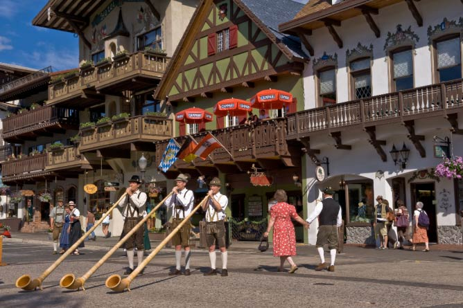 Leavenworth during summer | Courtesy of Leavenworth Chamber of Commerce