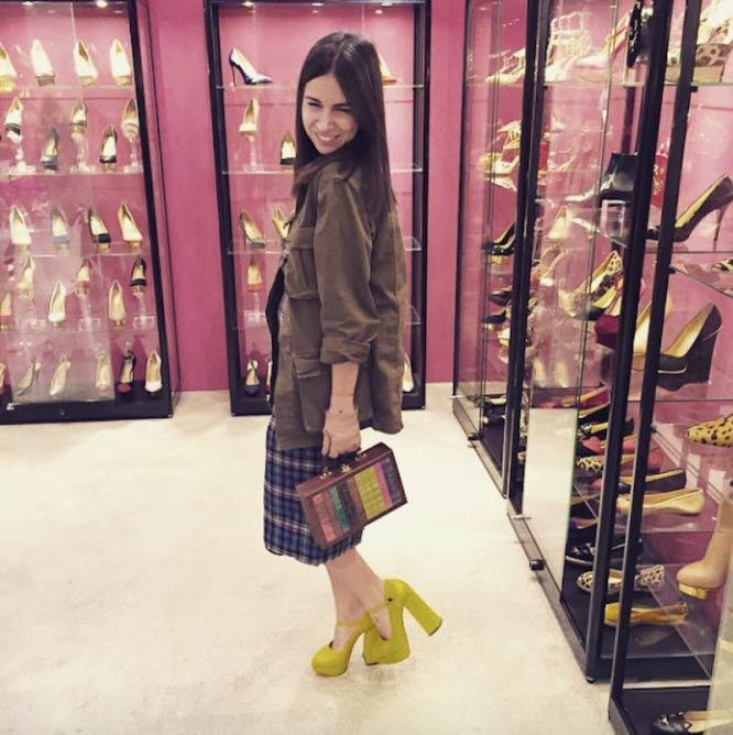 Natasha Goldenberg in 'a little bit of shoes and bags at @charlotte_olympia 's heaven soon at #NATA4TSUM' © Courtesy of Natasha Goldenberg