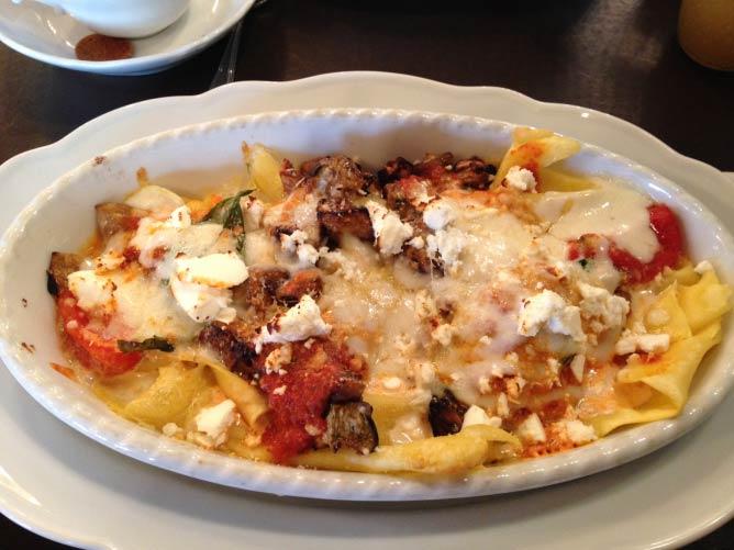 The open faced Lasange at Grand Cafe I @treasureyourbeing.files.wordpress.com