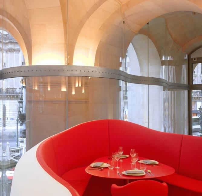 Interior of L'Opéra Restaurant   Photo credit Roland Halbe