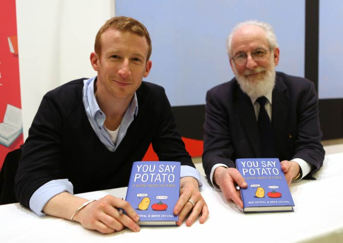 Ben and David Crystal, Image courtesy of Jewish Book Week