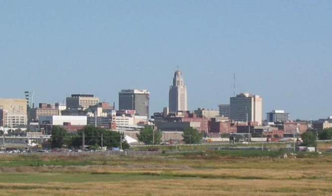 Skyline in Lincoln, Nebraska | © Wikicommons