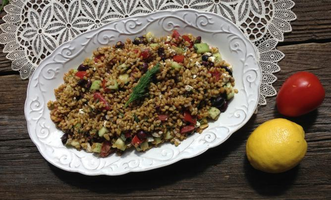 freekeh salad israel