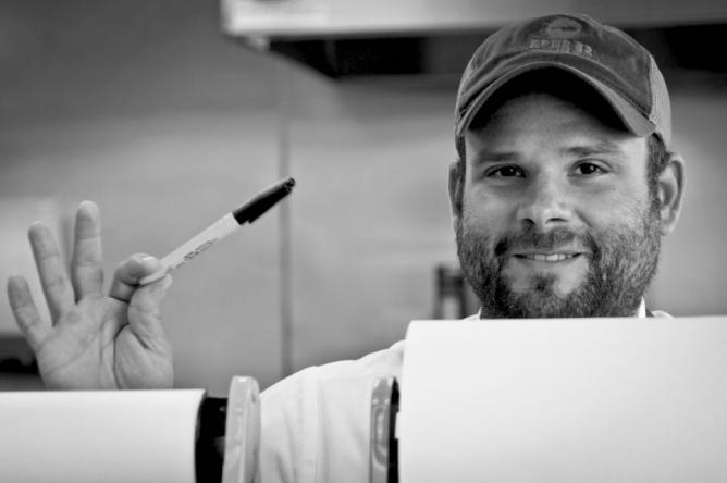 Matt Russo, founder of The Gambling Stick, at Porter Road Butcher.