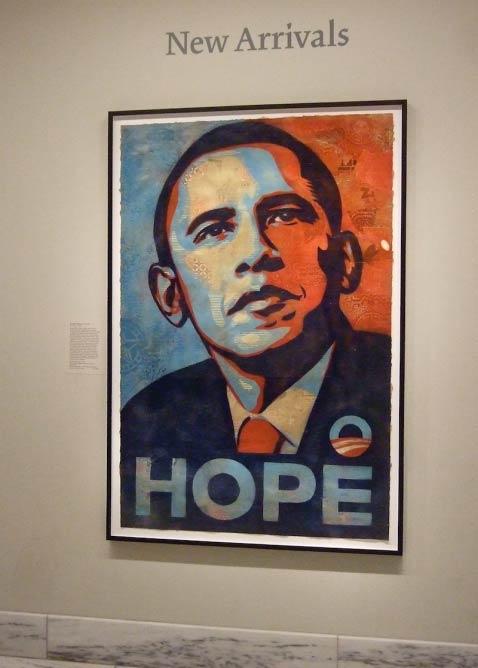 Poster of Barack Obama by Shephard Fairey, 2008 | © Catface3/FlickrCommons