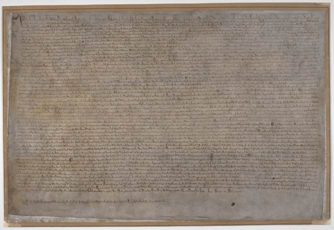Magna Carta, London copy, 1215