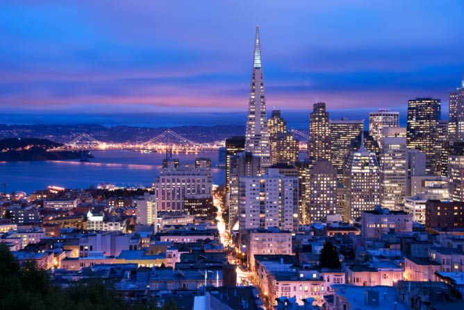 San Francisco skyline at dusk | © San Francisco Travel Association photo by Can Balcioglu/Courtesy of San Francisco Travel Association