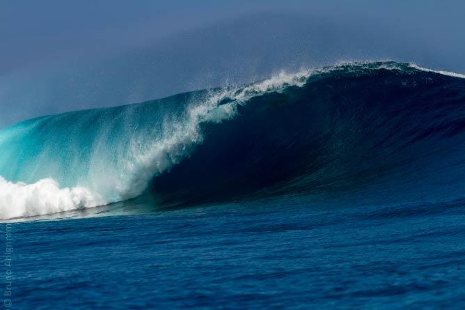 Beautiful barrel in Fiji
