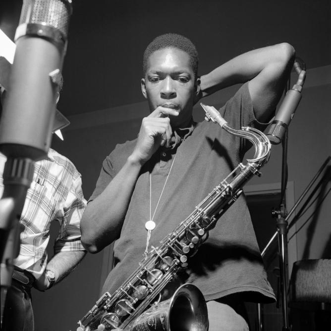 Francis Wolff, John Coltrane at his Blue Train session of September 15, 1957. © Mosaic Images LLC.