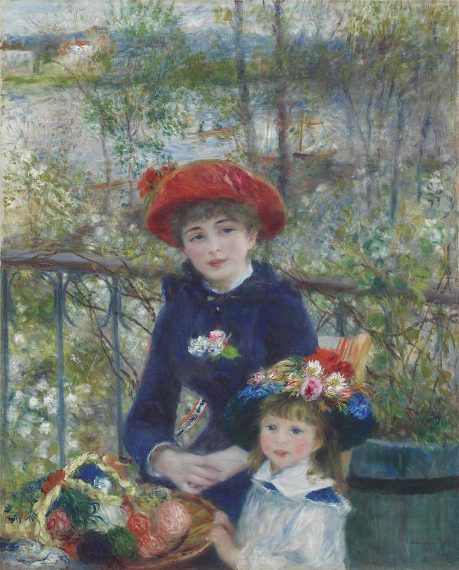 Pierre-Auguste Renoir Two Sisters (On the Terrace), 1881 The Art Institute of Chicago, Mr. and Mrs. Lewis Larned Coburn Memorial Collection 1933.455 © The Art Institute of Chicago, Illinois