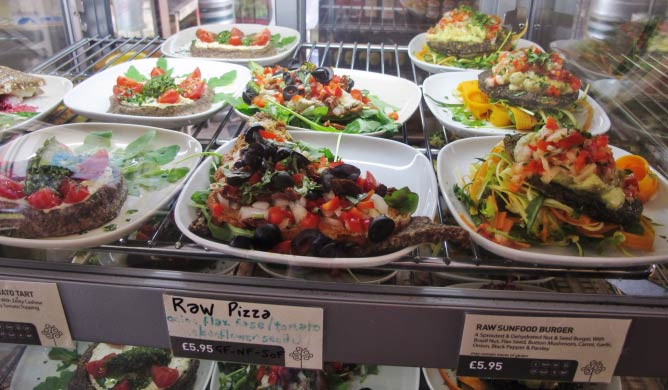 Raw vegan cafe london