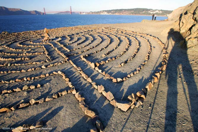 Eagle's Point Labyrinth| ©Jim Goldstein