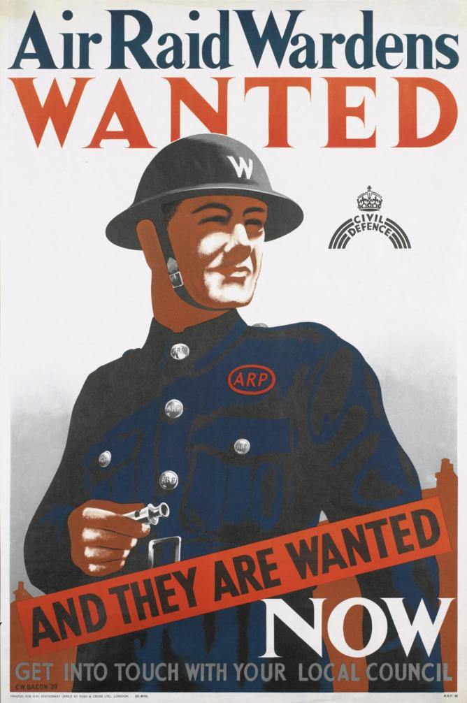 Air Raid Wardens Wanted by Cecil Beaton | Courtesy The Imperial War Museum