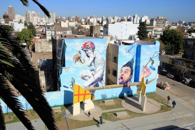 Mural in Villa Urquiza by Martin Ron | © Buenos Aires Street Art