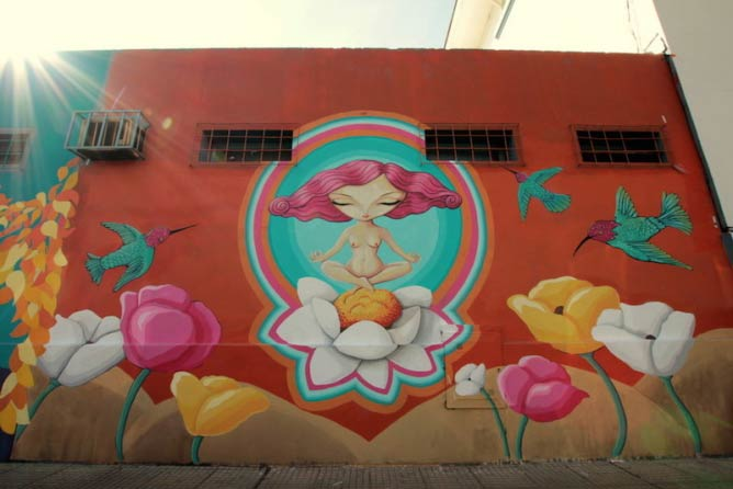 Mural in Coghlan by Sabrina Amante | © Buenos Aires Street Art