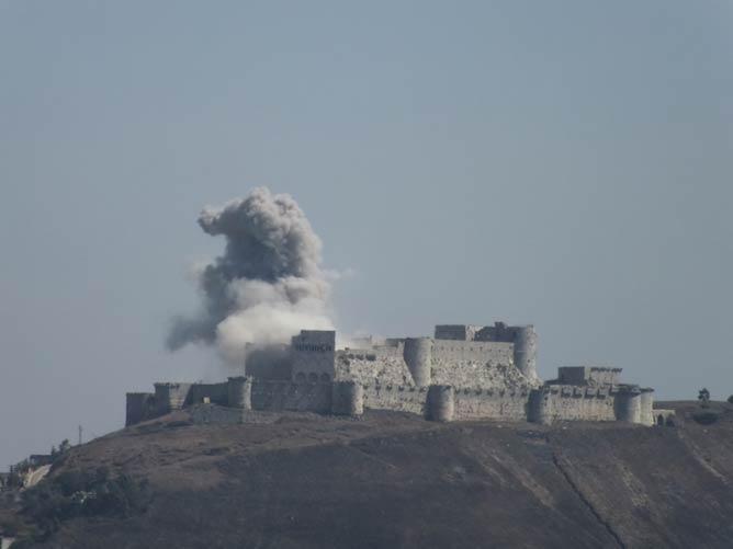 Krak des Chevaliers under fire | © Syria963/WikiCommons