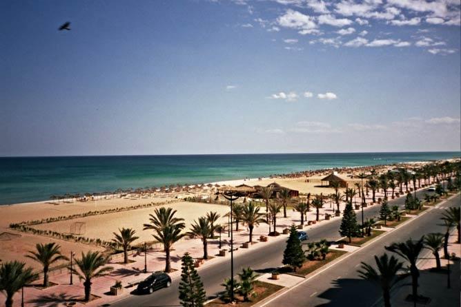 Le front de mer d'Hammamet