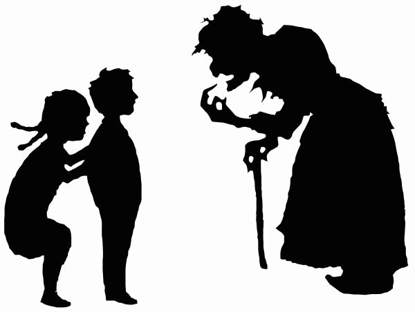 Vectorized silhouettes of Hansel and Gretel |©  Bobamnertiopsis and Immanuel Giel/Wikicomons