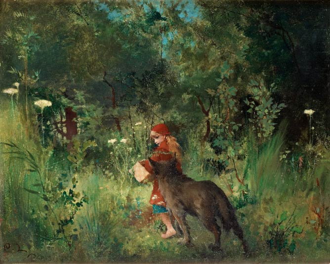 Little Red Riding Hood and the Wolf in the forest (1881) |© Bukowskis/Wikicommons