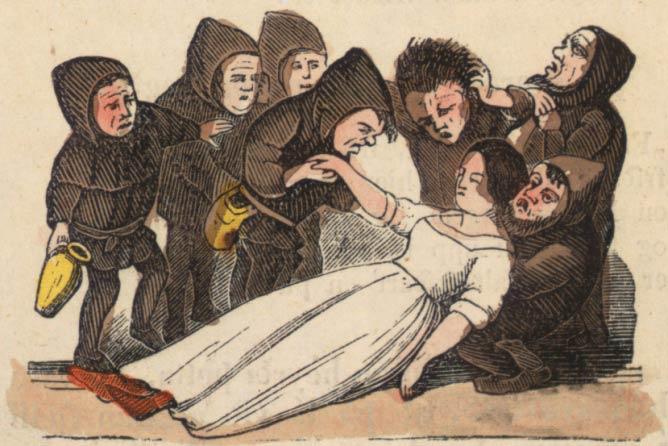 An illustration from page 17 of Mjallhvít (Snow White) from an 1852 icelandic translation of the Grimm-version fairytale |©  Landsbókasafn Íslands/Wikicommons