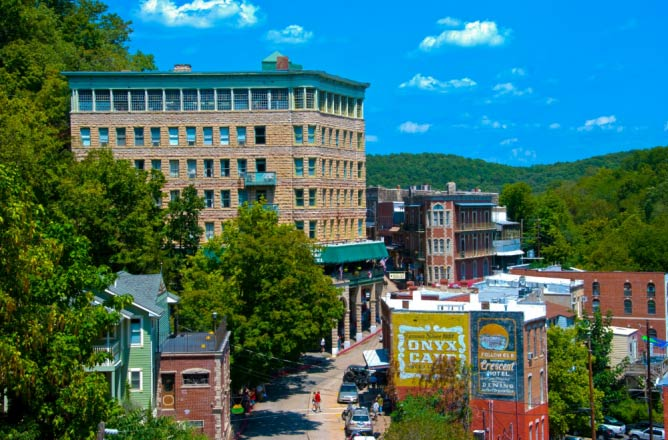 Downtown Eureka Springs | Courtesy Eureka Springs City Advertising & Promotion Commission