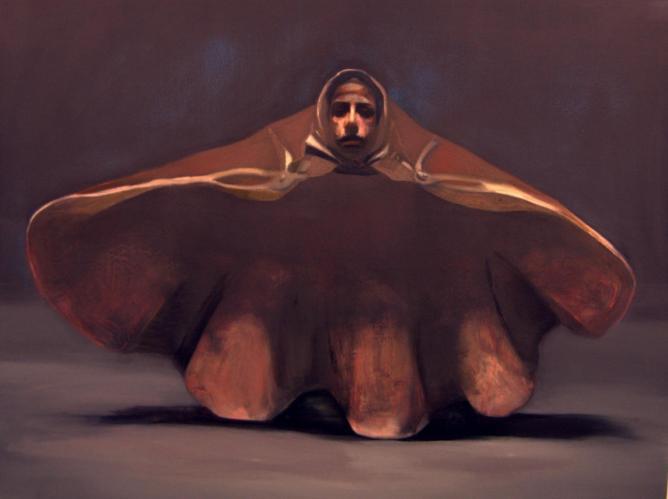 Reut Asimini Self Portrait as a Shelloil on Canvas