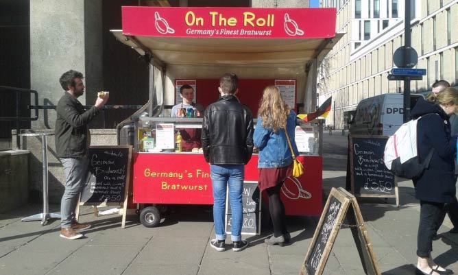 The On the Roll stall.