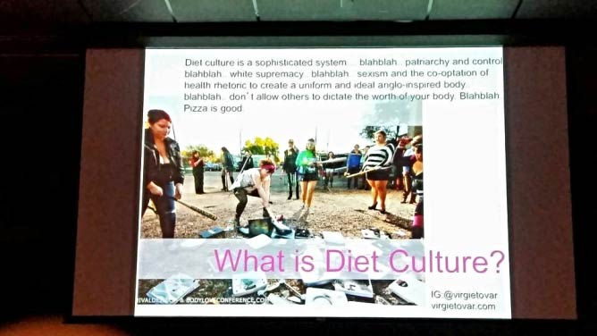 Slide from Virgie Tovar's TED Talk about diet culture   Courtesy Samantha Blanco