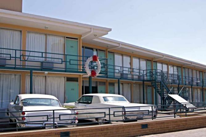 The Balcony at the Lorraine Motel where Martin Luther King was shot