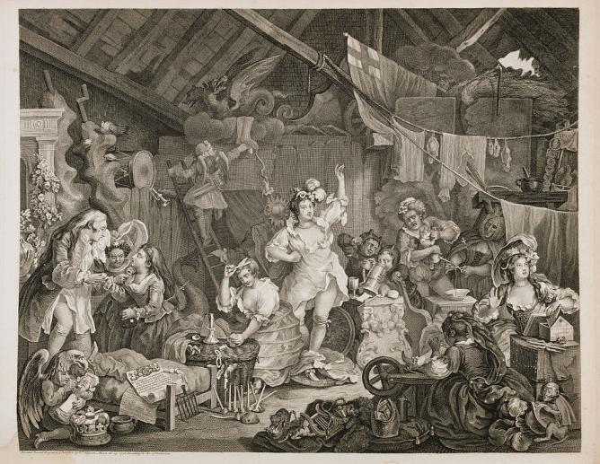 William Hogarth, Strolling Actresses Dressing in Barn | © WikiCommons