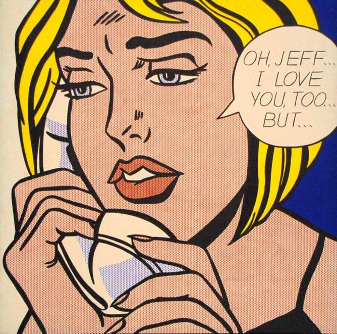 'Oh Jeff... I Love You, Too... But...' (1964) by Roy Lichtenstein | © Gautier Poupeau/Flickr