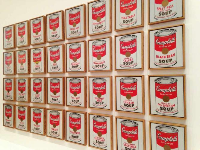 'Campbell's Soup Cans' (1962) by Andy Warhol | © Maurizio Pesce/Flickr