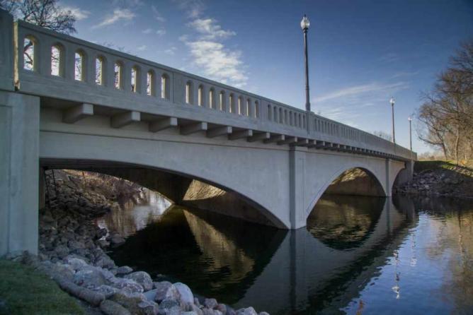West City Park Bridge, Valley City   Courtesy Valley City Convention & Visitors Bureau